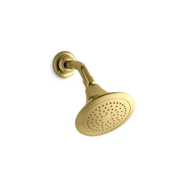 Kohler Forte 2.5 Gpm Single-Function Showerhead with Katalyst Air-Induction Technology Vibrant Polished Brass