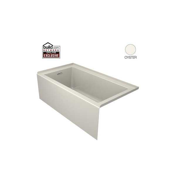 Jacuzzi LNS6032ALR2XX Linea 60' x 32' Acrylic Air Bathtub for Alcove Installation with Left Hand Drain - N/A