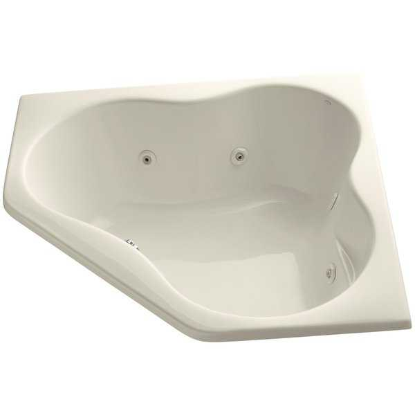 Kohler K-1154 Proflex Collection 54' Drop In Jetted Whirlpool Bath Tub with Center Drain - White