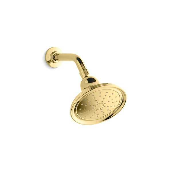 Kohler Devonshire 2.0 Gpm Single-Function Showerhead with Katalyst Air-Induction Technology Vibrant Polished Brass