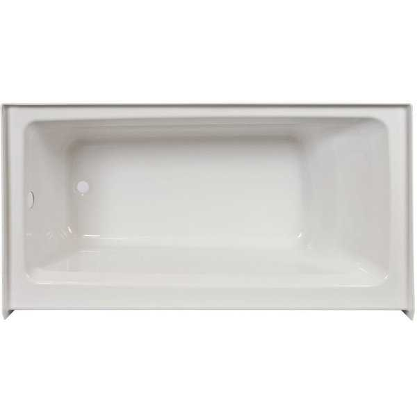 Jacuzzi J1S6036BRXXXX Signature 60' Acrylic Soaking Bathtub for Alcove Installations with Right Drain - White - N/A