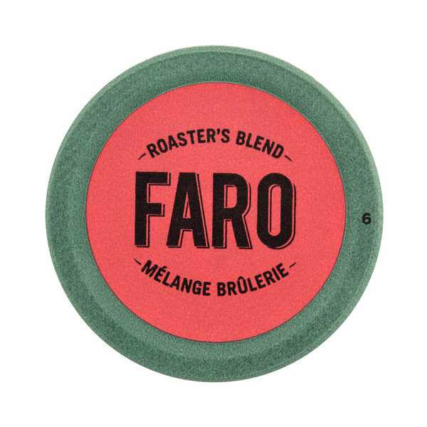 Faro Roaster's Blend, Medium Roast Coffee, 100% Compostable Rainforest Alliance Single Serve Cups for Keurig Brewers 12 Count