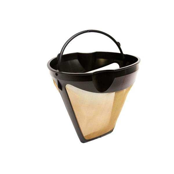 GoldTone Reusable #4, UGSF4 10-12 Cup Coffee Filter with Finger Grip and Handle, Fits Braun Coffeemakers