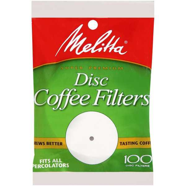 Melitta 3.5 Disc Coffee Filters, White, 100 Count