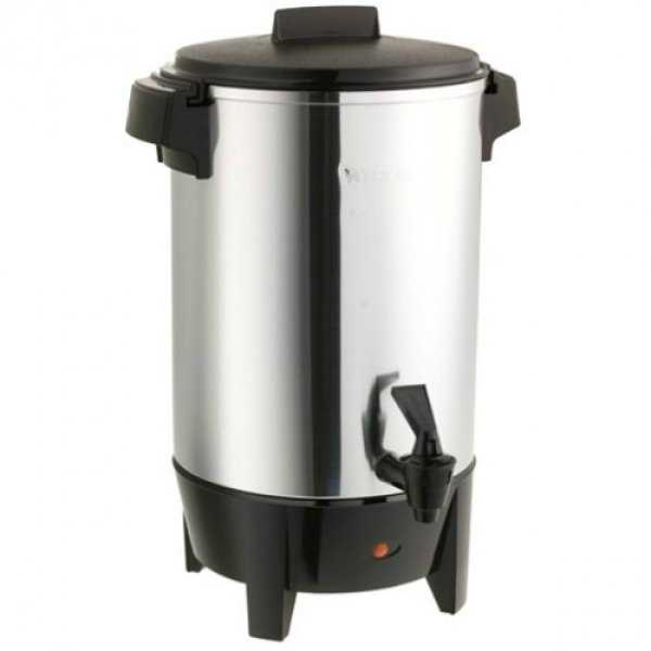 West Bend 58030 Quick Brewing Coffee Urn, Polished Aluminum, 30-Cup, 1090W