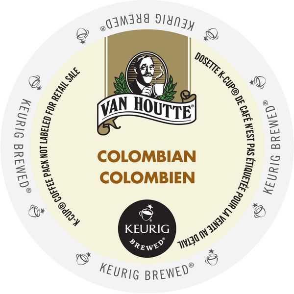 Van Houtte Colombian Medium Coffee, K-Cup Portion Pack for Keurig Brewers (24 Count)