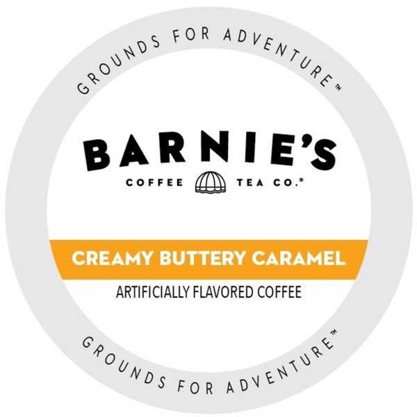 Barnie's Coffee Kitchen Creamy Buttery Caramel Ground, Flavored Medium Roast Single Serve Coffee for Keurig Brewers 96 Count
