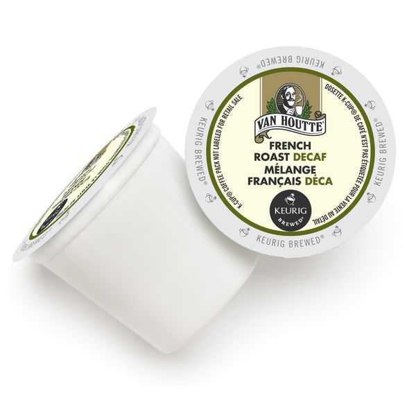 Van Houtte Decaf French Roast K-Cup Portion Pack for Keurig Brewers