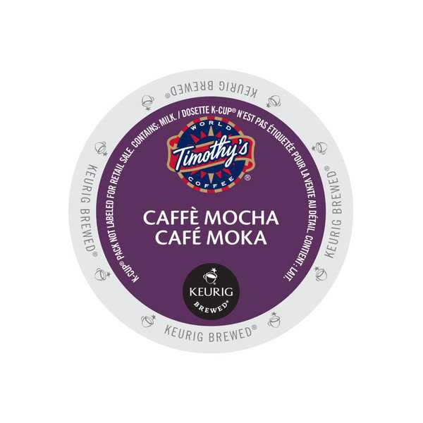 Timothy's Caffe Mocha K-Cup Portion Pack