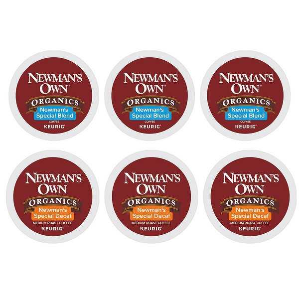 Newman's Own Organics Keurig K-Cups, 48-Pack (24 Regular, 24 Decaf)